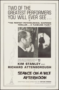 """Séance on a Wet Afternoon & Other Lot (Artixo, 1964). One Sheets (2) (27"""" X 41""""), Lobby Card Set of..."""