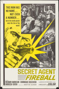 """Movie Posters:Action, Secret Agent Fireball & Other Lot (American International,1966). One Sheets (2) (27"""" X 41"""") & Lobby Card Set of 8 (11"""" X4""""... (Total: 10 Items)"""