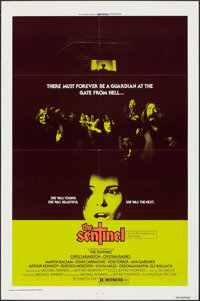 """The Sentinel & Other Lot (Universal, 1977). One Sheet (27"""" X 41""""), Lobby Cards (3) (11"""" X 14"""")..."""