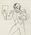Animation Art:Production Drawing, The Autograph Hound Charles Boyer Animation Drawing (WaltDisney, 1939). ...