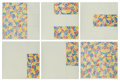Prints:Contemporary, Jasper Johns (b. 1930). 6 Lithographs (after 'Untitled1975'), 1976. Six lithographs in colors on Rives BFK newsprintgr... (Total: 6 Items)