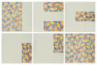 Jasper Johns (b. 1930) 6 Lithographs (after 'Untitled 1975'), 1976 Six lithographs in colors on Rive