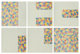Jasper Johns (b. 1930) 6 Lithographs (after 'Untitled 1975'), 1976 Six lithographs in colors on Rives BFK newsprint gr...