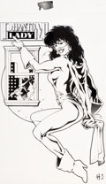 Original Comic Art:Splash Pages, Adam Hughes Who's Who in the DC Universe #4 Page 29 PhantomLady Pin-Up Original Art (DC, 1990)....