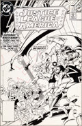 Original Comic Art:Covers, Paris Cullins and Mike Machlan Justice League of America#238 Cover Original Art (DC, 1985)....
