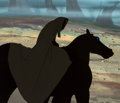 Animation Art:Production Cel, Lord of the Rings Dark Rider Production Cel and MasterBackground (Ralph Bakshi, 1978)....