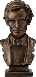 Political:3D & Other Display (pre-1896), Abraham Lincoln: Copper or Bronze Bust by Louis Mayer....