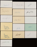 Baseball Collectibles:Others, Baseball Greats Signed Index Card Collection (45)....