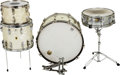 Musical Instruments:Drums & Percussion, Circa 1950s/60s Ludwig/WFL White Pearl Drum Set.... (Total: 4 )