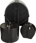 Musical Instruments:Drums & Percussion, Circa 1980s Ludwig Black Drum Carrying Cases.... (Total: 3 )