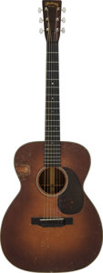 Musical Instruments:Acoustic Guitars, 1933 Martin OM-18 Sunburst Acoustic Guitar, Serial #53552....
