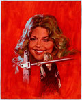Original Comic Art:Paintings, Arnaldo Putzu Look-In Magazine 1-14-78 Cover Bionic Woman Original Art (Look-In, 1978)...