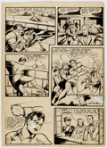 Original Comic Art:Panel Pages, Matt Baker (attributed) Unpublished Wonder Boy Story Page 9Original Art (c. 1950's)....