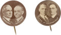 Political:Pinback Buttons (1896-present), Cox-Roosevelt and Harding-Coolidge 1920 Jugate Buttons: A Unique Matched Pair.... (Total: 2 Items)