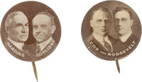 Cox-Roosevelt and Harding-Coolidge 1920 Jugate Buttons: A Unique Matched Pair