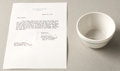 Political:Presidential Relics, John F. Kennedy: Personally-Owned Soup Bowl.... (Total: 2 Items)