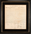 Miscellaneous:Ephemera, Peter Force Printing of The Declaration of Independence....
