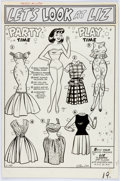 Original Comic Art:Splash Pages, Stan Goldberg Kathy #11 Dress-Up Page Original Art (Marvel,1961)....