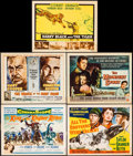 "Movie Posters:Adventure, King of the Khyber Rifles & Others Lot (20th Century Fox,1954). Title Lobby Cards (5) (11"" X 14""), One Sheets (2) (27"" X41... (Total: 15 Items)"
