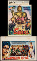 "Movie Posters:Adventure, Sabaka & Other Lot (United Artists, 1955). Belgians (2) (13.75""X 21"" &14"" X 21""). Adventure.. ... (Total: 2 Items)"