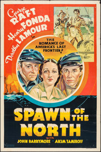 """Spawn of the North (Paramount, 1938). Other Company One Sheet (27"""" X 41""""). Action"""