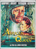 "Movie Posters:Adventure, The African Queen (Connaissance du Cinema, R-1990s). French Grande(46.25"" X 62.5""). Adventure.. ..."