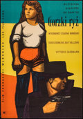 """Movie Posters:Foreign, Bitter Rice (Lux Film, 1950). Polish One Sheet (33"""" X 23""""). Foreign.. ..."""