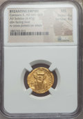 Ancients:Byzantine, Ancients: Constans II (641-668). AV solidus (4.47 gm). NGC MS 4/5 -4/5....