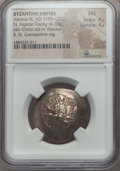 Ancients:Byzantine, Ancients: Alexius III Angelus (1195-1203). EL aspron trachy (4.20gm). NGC MS 4/5 - 4/5....
