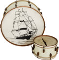 Musical Instruments:Drums & Percussion, Circa 1920s/30s Slingerland White Pearl Drum Lot.... (Total: 2 )