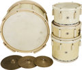 Musical Instruments:Drums & Percussion, Circa 1930s/40s Ludwig White Pearl Drum Set.... (Total: 5 )