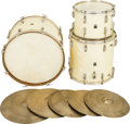 Musical Instruments:Drums & Percussion, Circa 1950s Leedy White Pearl Drums.... (Total: 3 )