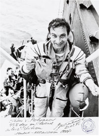 Russian Soyuz TM-18 / TM-20 Flown and Signed Photo of Valeri Polyakov, Was in Space for 437+ Days, the All-Time Record.&...
