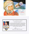Explorers:Space Exploration, Russian Soyuz TMA-3 Flown Yuri Gagarin Postcard Signed by AlexandrKaleri, with Signed COA....