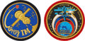 Explorers:Space Exploration, Russian Soyuz TMA-1 / ISS / TM-34 Flown Patches from FlightCommander Sergei Zalyotin.... (Total: 2 Items)