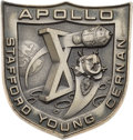 Explorers:Space Exploration, Apollo 10 Flown Silver Robbins Medallion, Serial Number 102,Originally from the Personal Collection of Mission CommandModule...