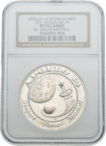 Explorers:Space Exploration, Apollo 14 Flown PF63 Cameo NGC Silver Franklin Mint Medallion, Serial Number 0119, Originally from the Personal Collection of ...