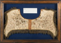Political:Presidential Relics, George Washington and British General Edward Braddock: A Remarkable Leopard-skin Saddle Pad Owned and Used by Both Historic Fi...