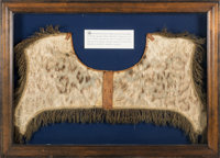George Washington and British General Edward Braddock: A Remarkable Leopard-skin Saddle Pad Owned and Used by Both Histo...