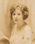 """Photographs, James Abbe (American, 1883-1973). Norma Talmadge in """"The Eternal Flame"""" (two photographs). Gelatin silver. 16-1/4 x 13-1..."""