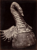 Photographs:Albumen, Charles Clifford (Welsh, 1820-1863). Spanish Helmet andJapanese Helmet (two photographs), circa 1858. Albumen.13-1... (Total: 2 Items)