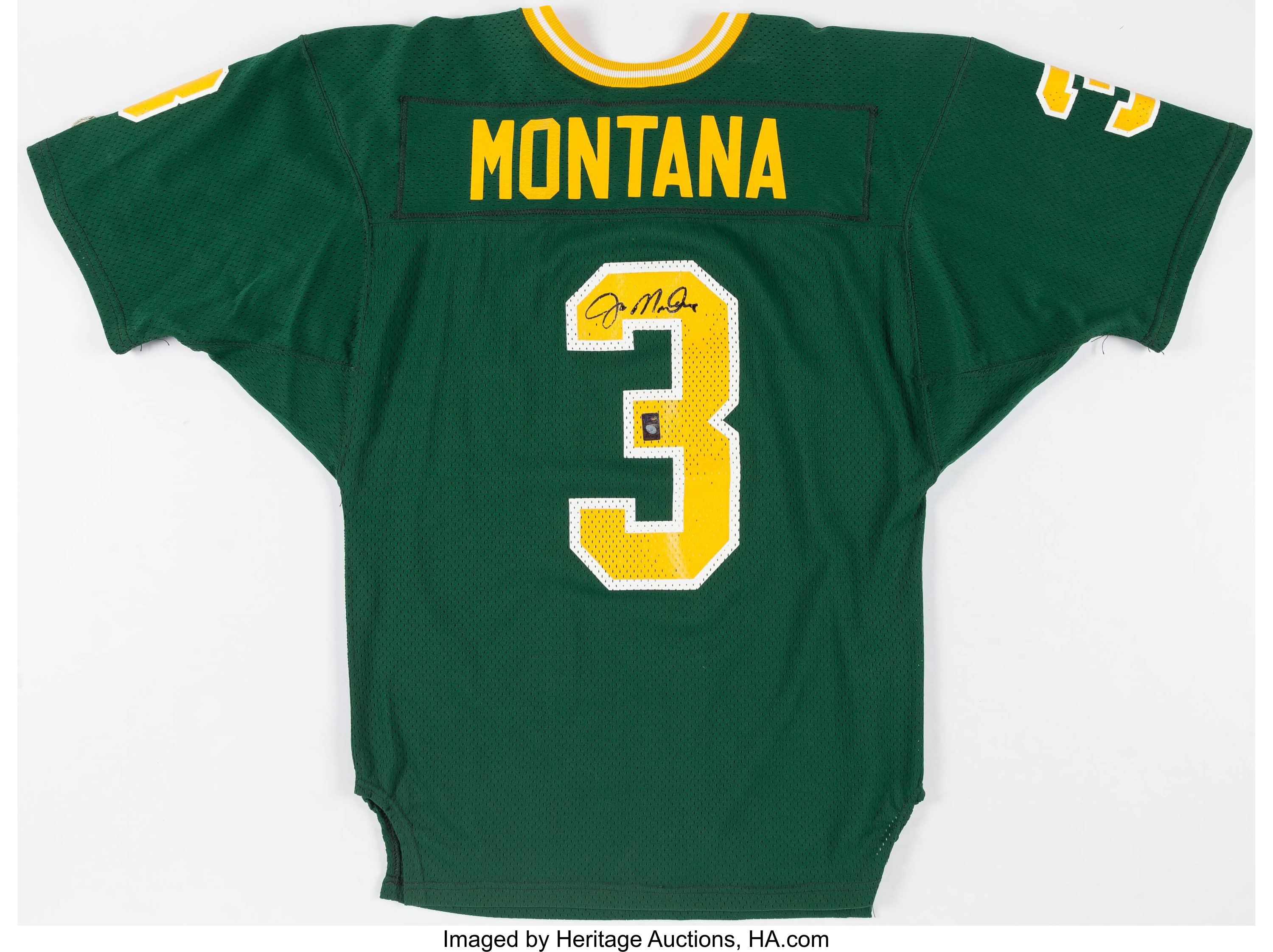 official photos dbf98 36718 Joe Montana Signed Notre Dame Fighting Irish Jersey ...