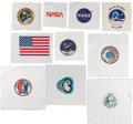 Explorers:Space Exploration, Apollo 7 through Skylab III Inclusive: Complete Collection of Beta Cloth Mission Insignias, also Includes SMEAT, NASA Logos, a...