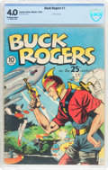 Golden Age (1938-1955):Science Fiction, Buck Rogers #1 (Eastern Color, 1940) CBCS VG 4.0 Off-white to whitepages....