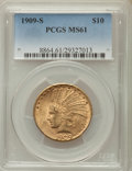 Indian Eagles: , 1909-S $10 MS61 PCGS. PCGS Population: (106/301). NGC Census:(121/155). Mintage 292,350. ...