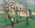 Fine Art - Painting, European:Modern  (1900 1949)  , Victor Charreton (French, 1864-1937). Spring trees. Oil oncanvas. 23-3/4 x 28-3/4 inches (60.3 x 73.0 cm). Signed lower...