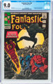 Fantastic Four #52 (Marvel, 1966) CGC VF/NM 9.0 Off-white to white pages