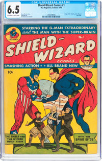 Shield-Wizard Comics #1 (MLJ, 1940) CGC FN+ 6.5 Off-white to white pages
