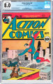 Action Comics #28 (DC, 1940) CGC Conserved VF 8.0 Off-white to white pages