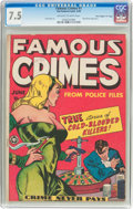 "Golden Age (1938-1955):Crime, Famous Crimes #1 Davis Crippen (""D"" Copy) Pedigree (Fox Features Syndicate, 1948) CGC VF- 7.5 Off-white to white pages...."